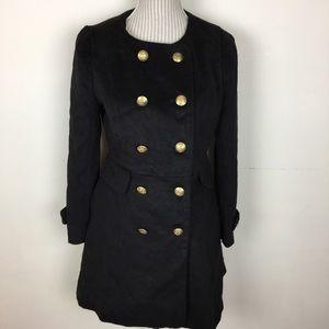 Jackets & Blazers - ✨ANNUAL SALE✨NWT Black Military Style Velvety Coat